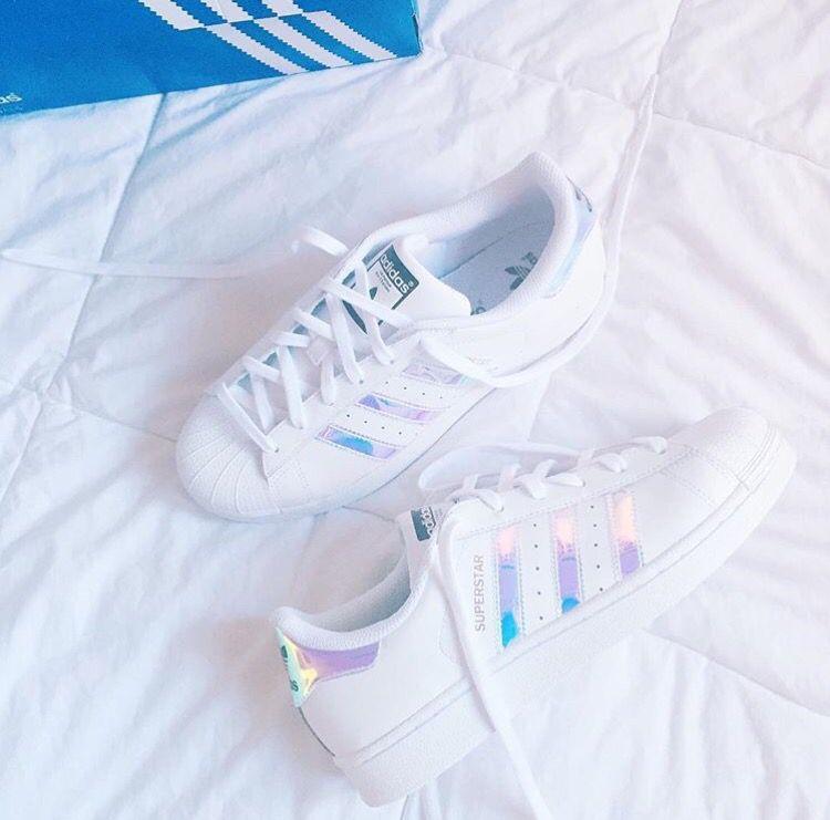 adidas superstar holographic stripes regenbogen