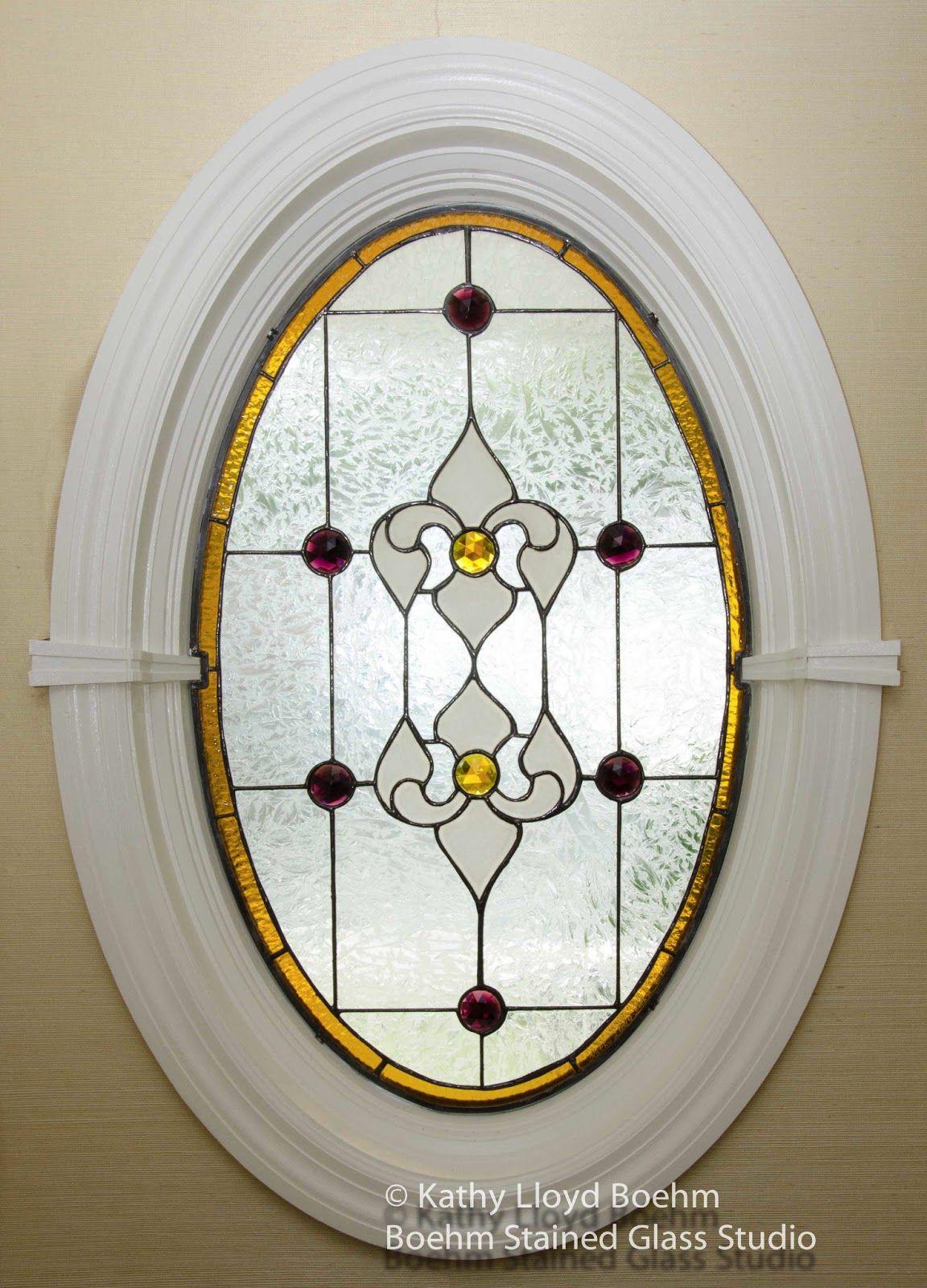 Oval Window Trim Oval Window Glass Art Stained Glass