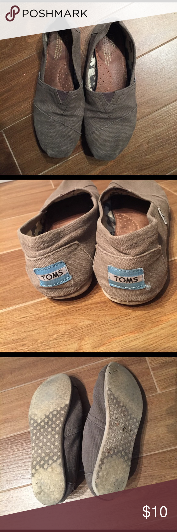Tom's Classic Shoes Toms canvas classic slip ons. Used but has a lot of life left TOMS Shoes Flats & Loafers