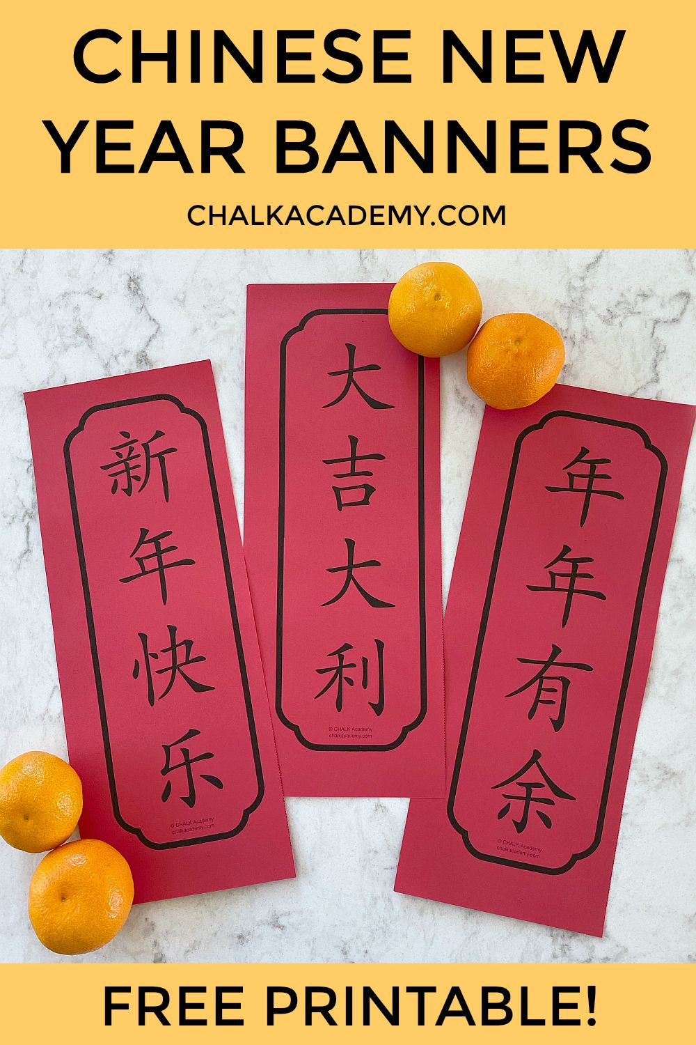 Chinese New Year Banners Simplified and Traditional