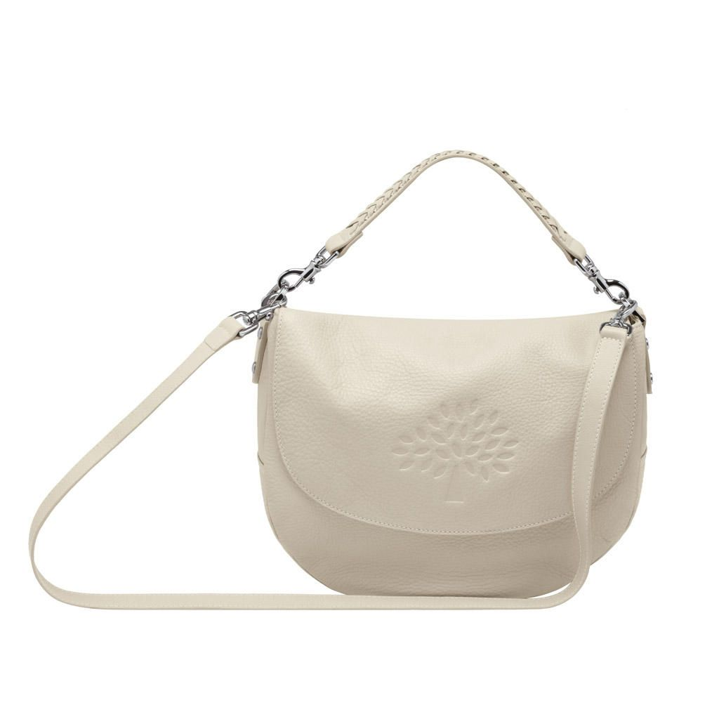 19f8cfd1d3 Mulberry Effie Satchel Snowball White Spongy Pebbled