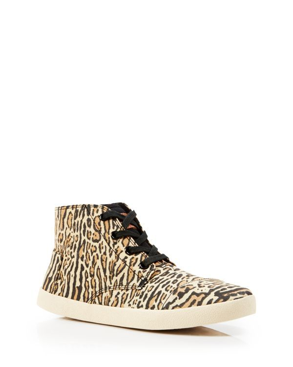 Toms Leopard Print High Top Sneakers - Paseo Highs