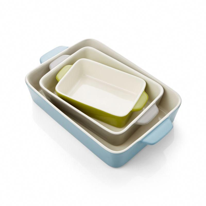 Avery Ceramic Baking Dishes Set Of 3 Ceramicinteriordesign Ceramic Baking Dish Baked Dishes Baking Dish Set