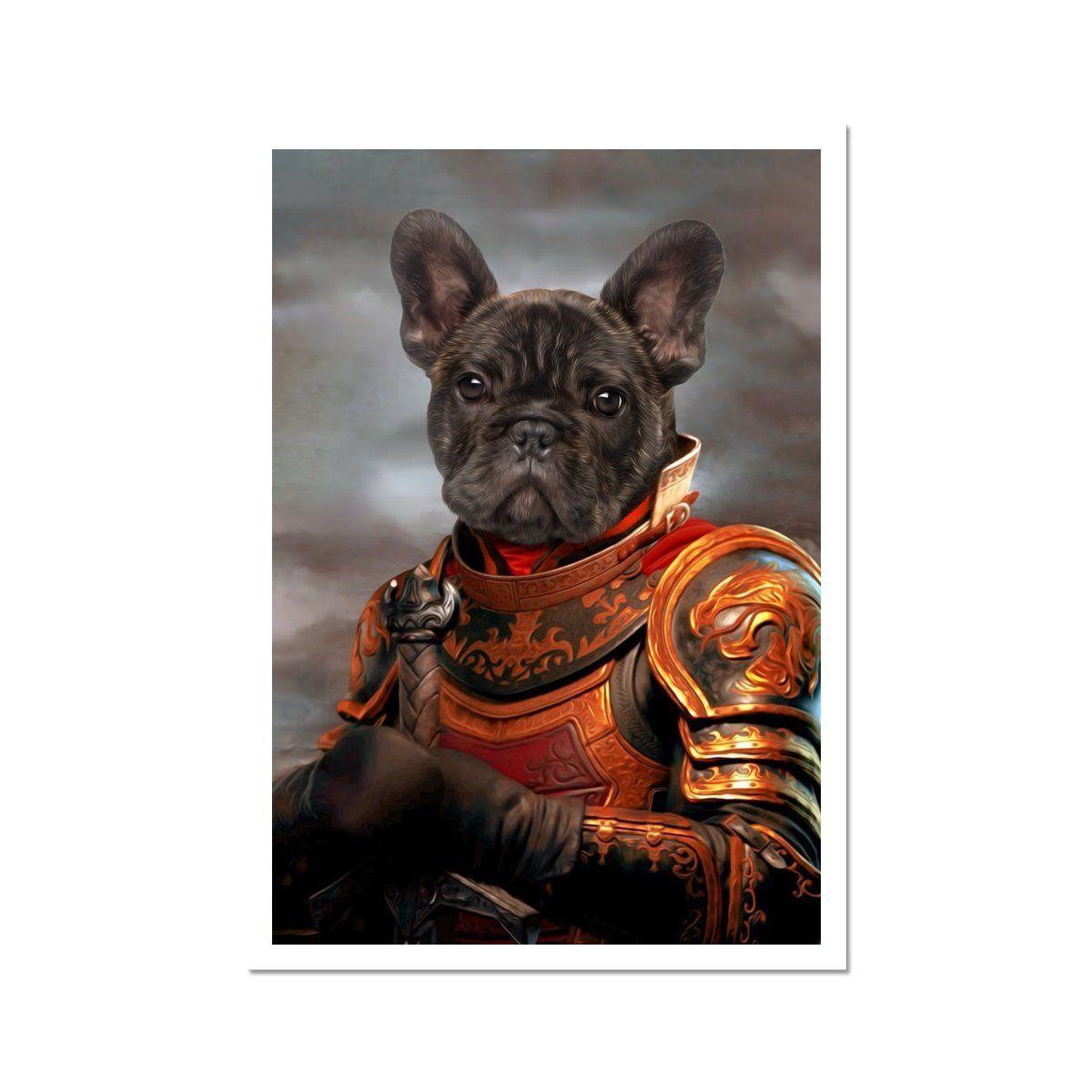 The Knight: Custom Pet Poster - A4 Portrait