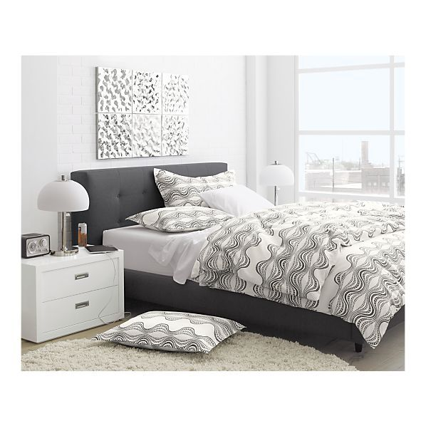 Stylish Grey Bed Frame With 3 Drawers High Headboard Low Footend