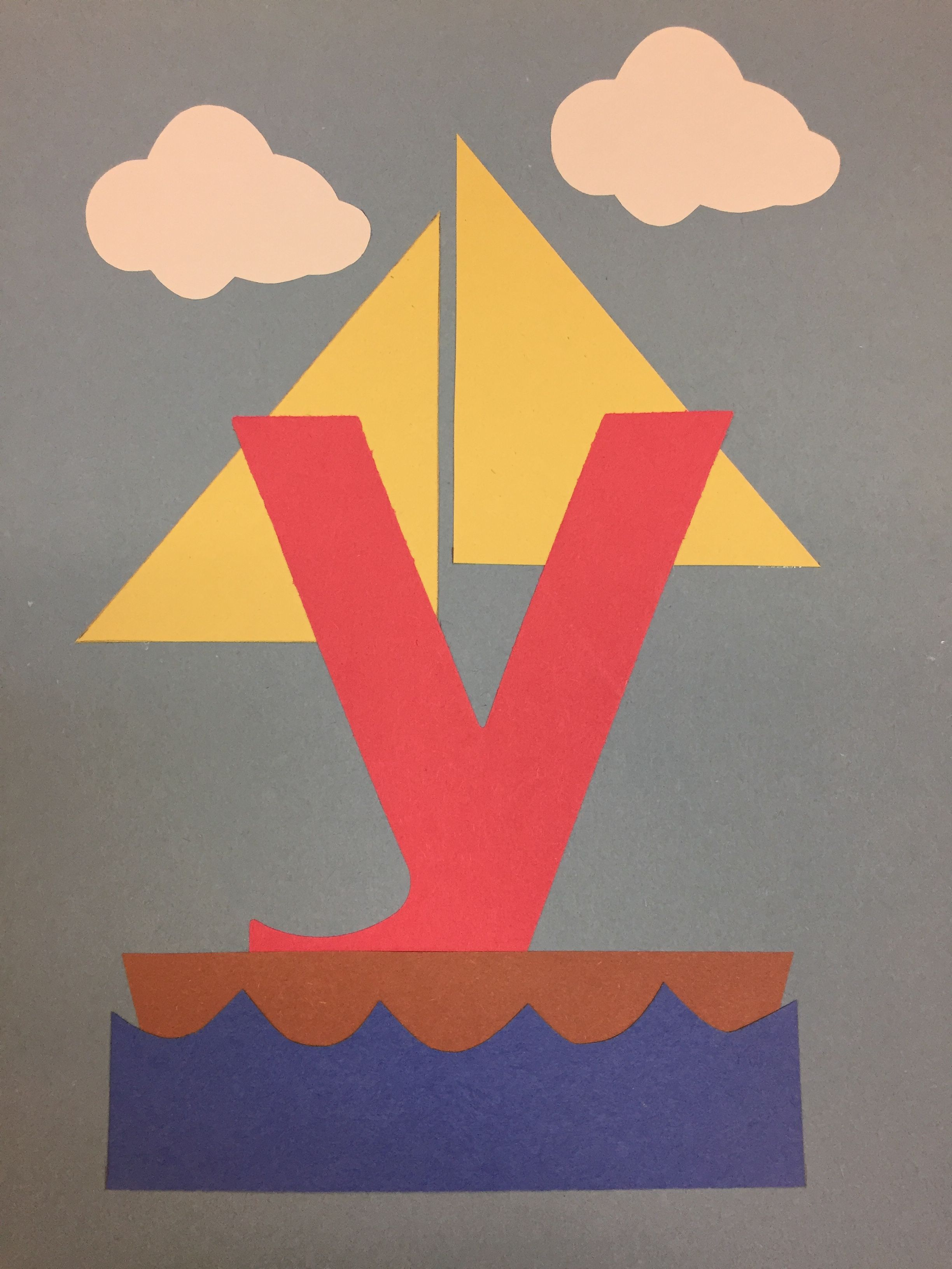 Y Is For Yacht Letter A Crafts Preschool Arts And Crafts