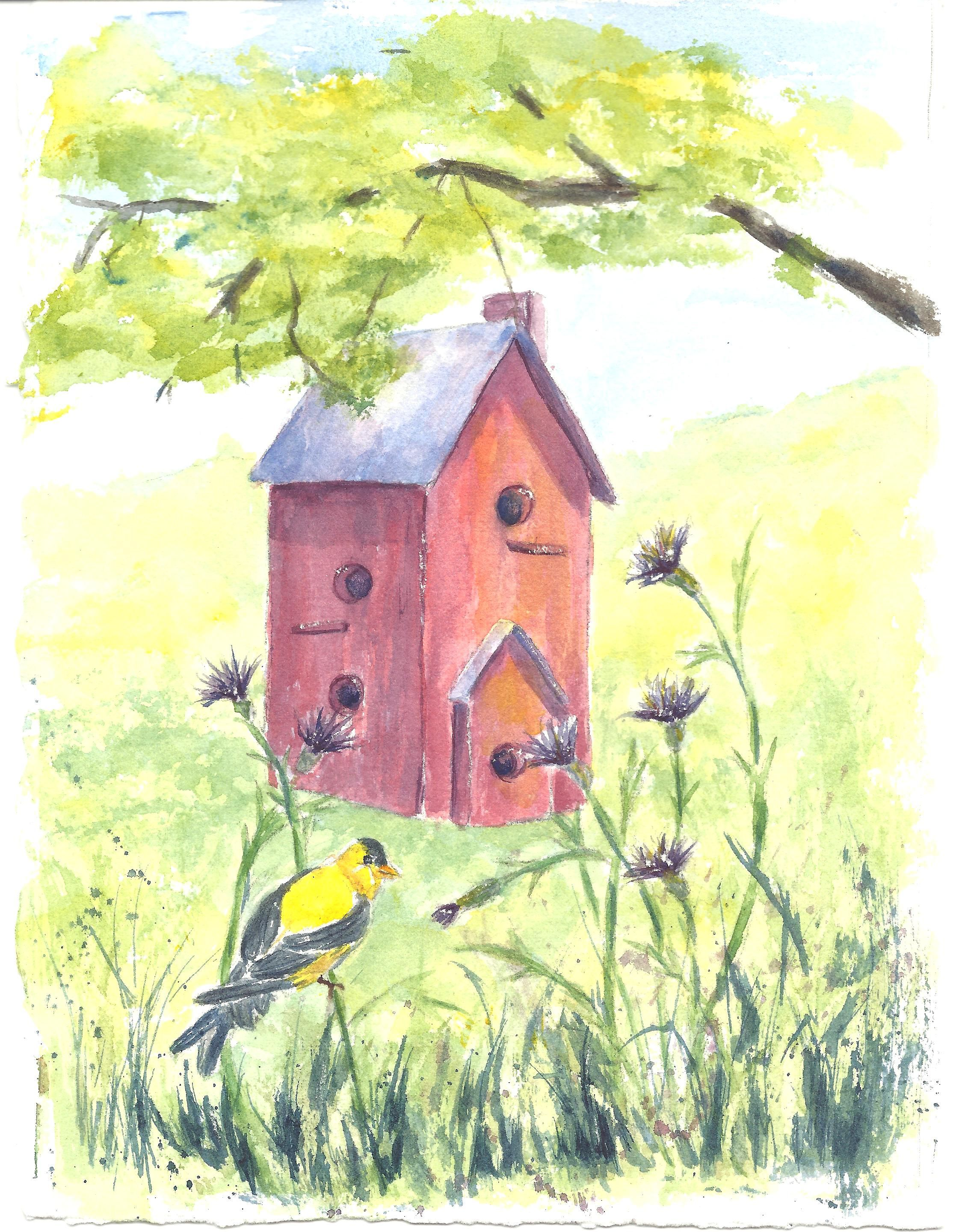 """Gold Finch Birdhouse"