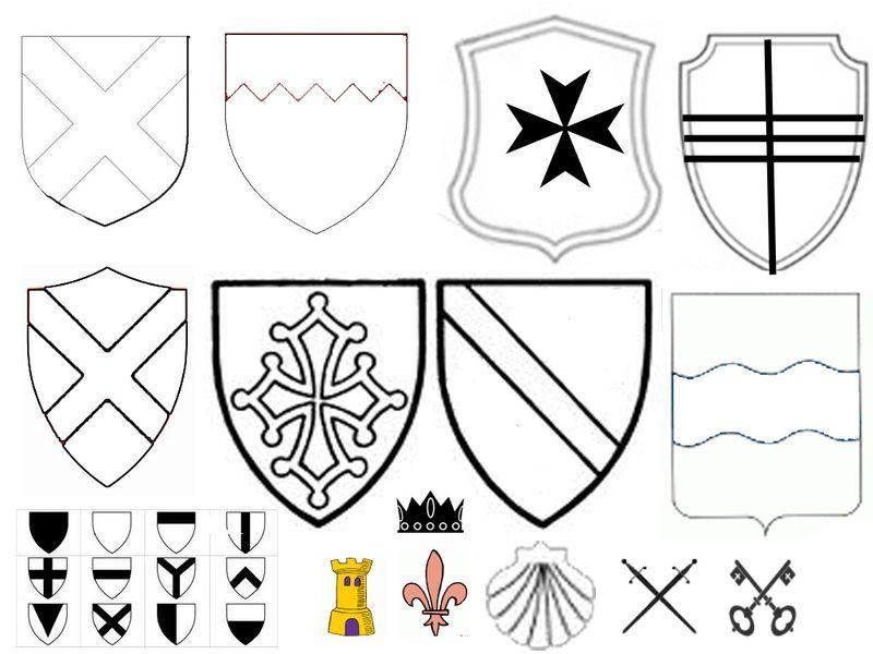 Coloriage Fanion Chevalier.Theme Creations Decor Medievale Chevaliers Maternelle Et