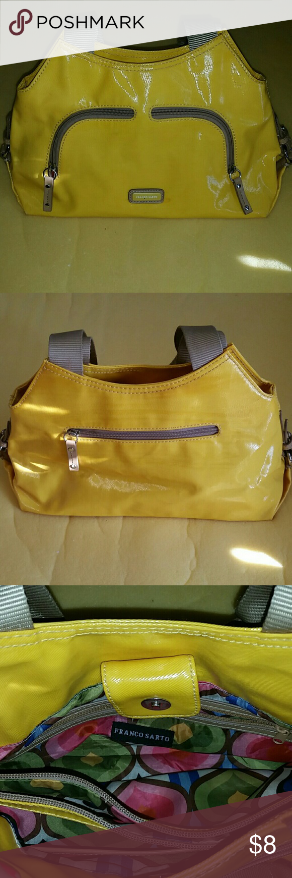 Franco sarto purse Cute and yellow with multiple pockets. Franco Sarto Bags Satchels