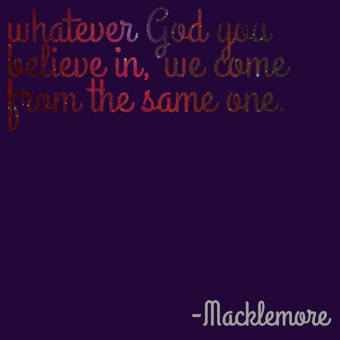 Lyric lyrics to same god : Whatever God You Believe In, We come from the Same One ...