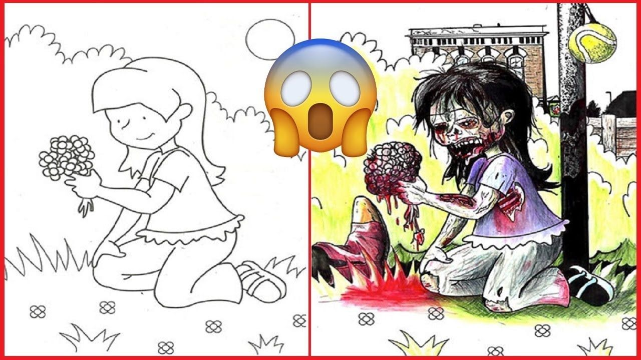 Hilarious Defaced Children S Coloring Books By Adults Coloring Books Hilarious Childrens