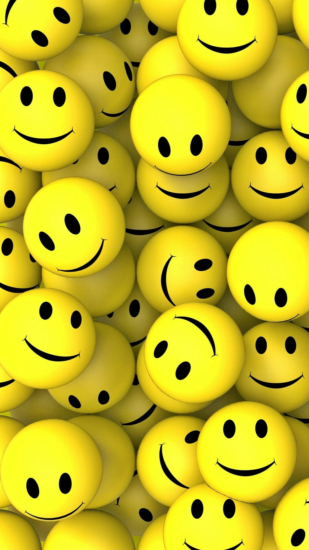 3D SMILEY 3d wallpaper for mobile, Happy wallpaper