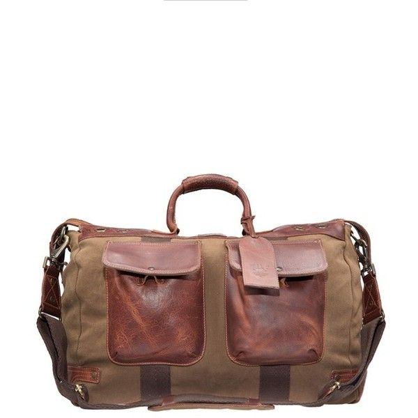 Will Leather Goods Traveler Duffel Bag ($395) ❤ liked on Polyvore featuring men's fashion, men's bags, mens leather duffle bag, mens leather duffel bag, mens leather duffle travel bag, mens leather bag and mens duffel bags