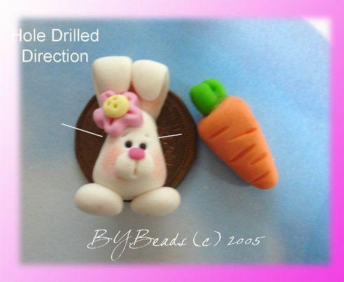 Handmade Easter Chick Polymer Clay Bead  Charm