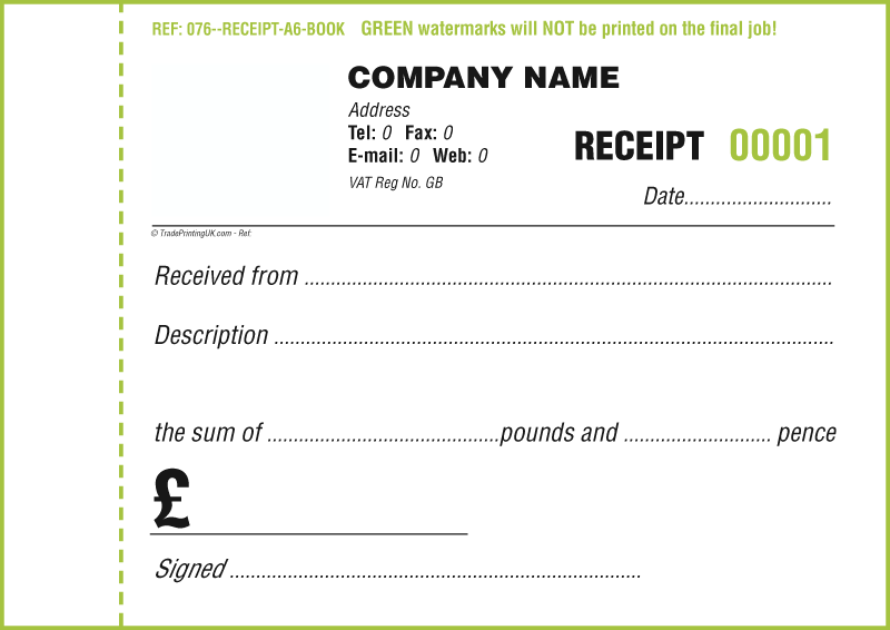 Receipt Book Template Free Invoice Word Templates Printing Uk