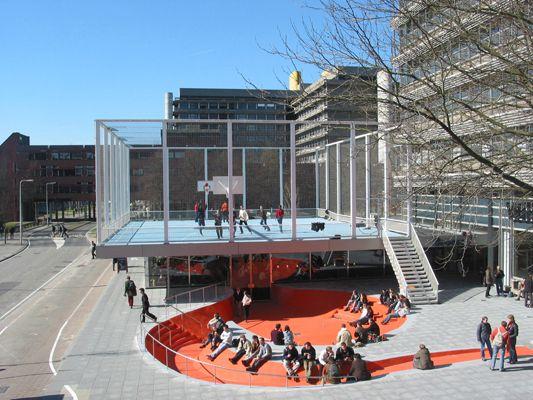 Basket Ball Court Under The Garage Architecture Public Space Design Urban Playground