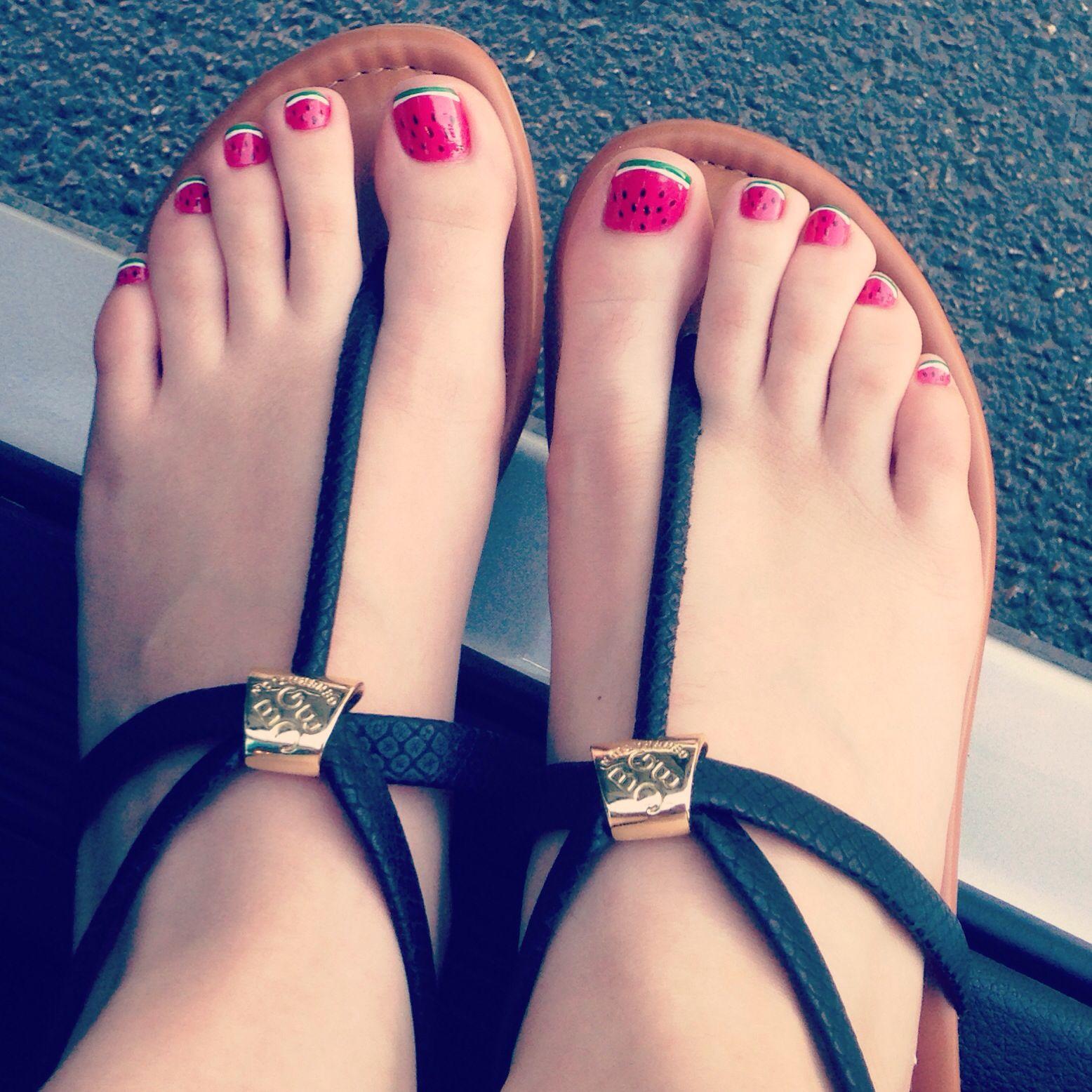 Pedicure at the nail salon, super easy! 1) polish toes pink polish 2 ...