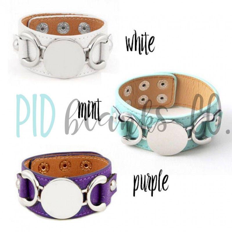 Monogram Leather Cuff Bracelet Jewelry By Www Pidblanks