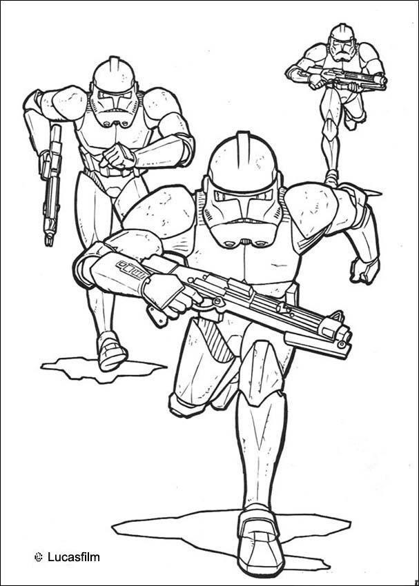 Emperor clone soldiers coloring page