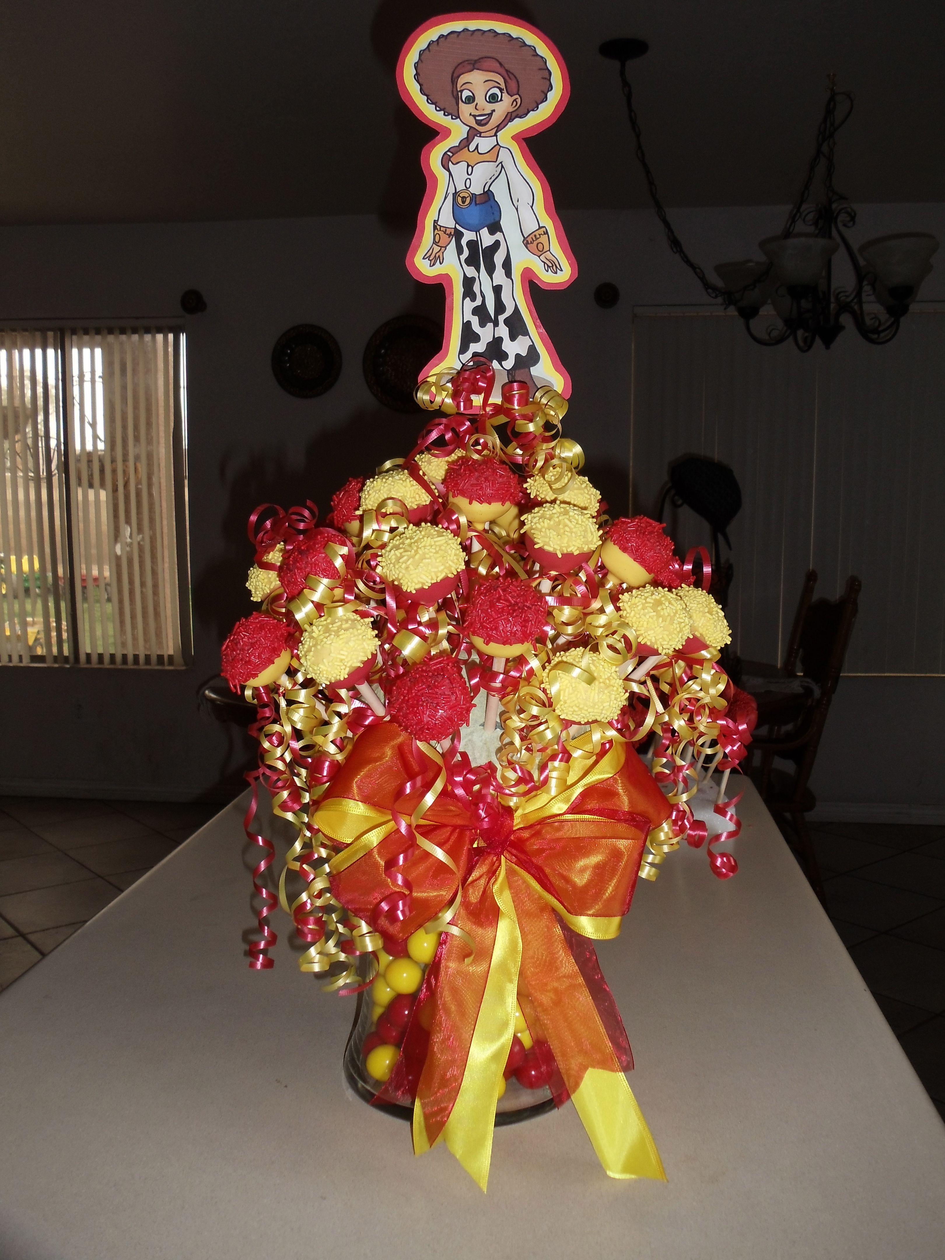 Toy Storys Jesse Cake Pop Bouquet #cakepopbouquet