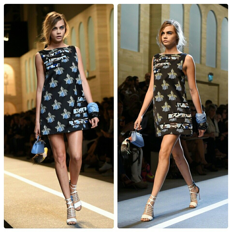 Cara Delevingne Fendi, Fashion Show S/S 2015.  #AGDLM #fashion #moda #fendi #caradelevingne #springsummer #springsummer2015 #Spring2015 #style