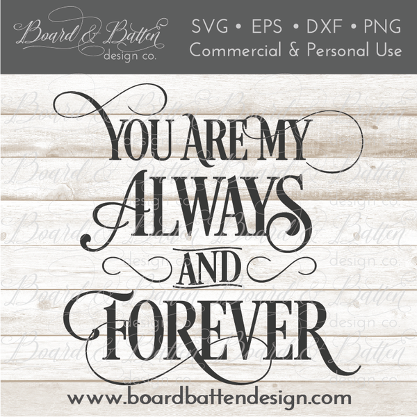 45+ Always And Forever Svg Cut File DXF