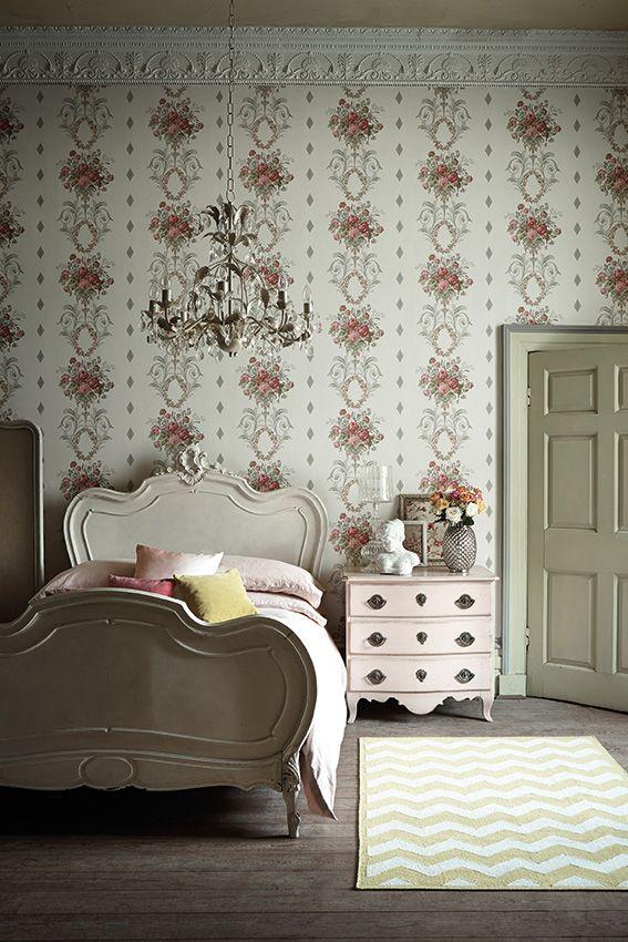 Englischer Landhausstil · Schlafzimmer · Tapeten · R