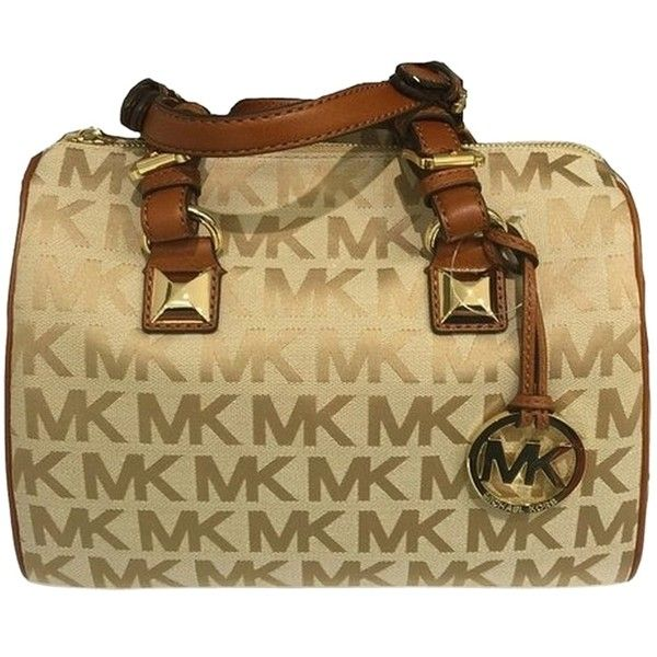 Pre-owned Michael Kors Beige Camel Luggage Satchel (2.290 ARS) ❤ liked on Polyvore featuring bags, handbags, beige camel luggage, satchel purse, michael kors, brown handbags, beige handbags and beige purse