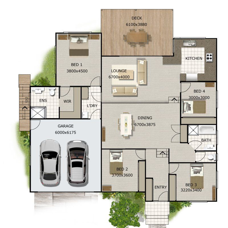 Open Concept Split Level Floor Plan Yahoo Image Search Results Split Level House Plans 4 Bedroom House Plans Bedroom House Plans