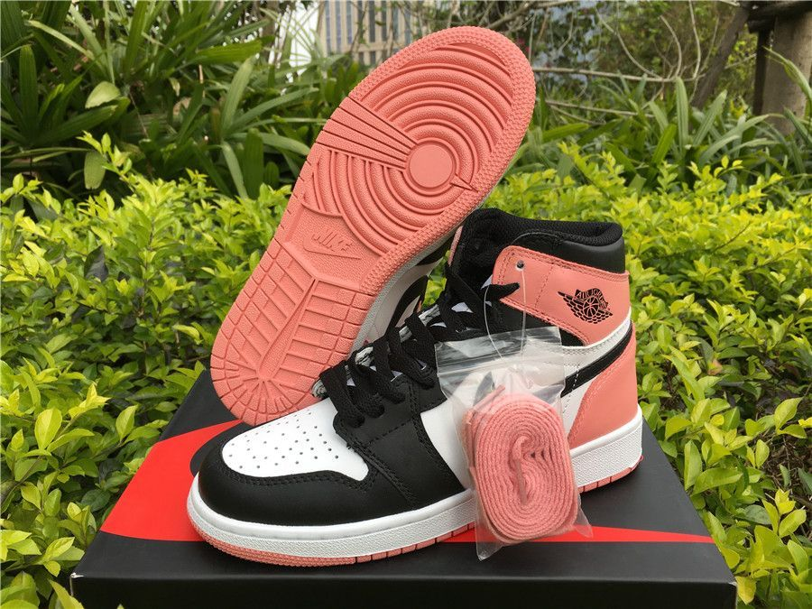 "e550d9348f3 2018 Girls Air Jordan Shoes Air Jordan 1 Retro High OG GS ""Rust Pink ..."