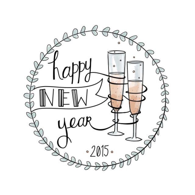 Happy new year illustration. Suzanne Elizondo