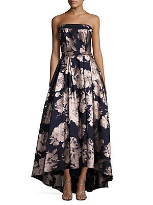 a8191db4 Xscape Floral-Print Hi-Lo Gown | R&J Womens Party | Floral gown ...