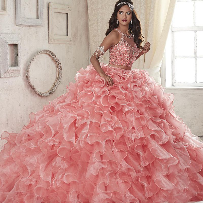 Find More Quinceanera Dresses Information about Two Piece Crystal ...