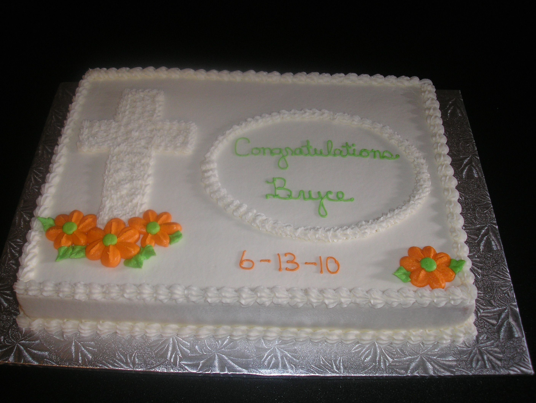 Confirmation Sheet Cake