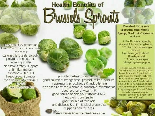 Hralthy benefits of Brussels sprouts