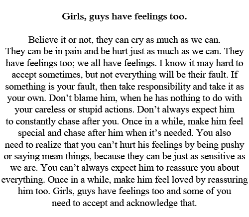 girls have feelings too