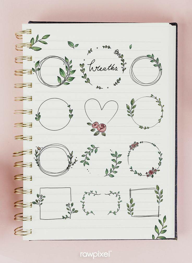 Dibujos de flores paso a paso: bullet journal