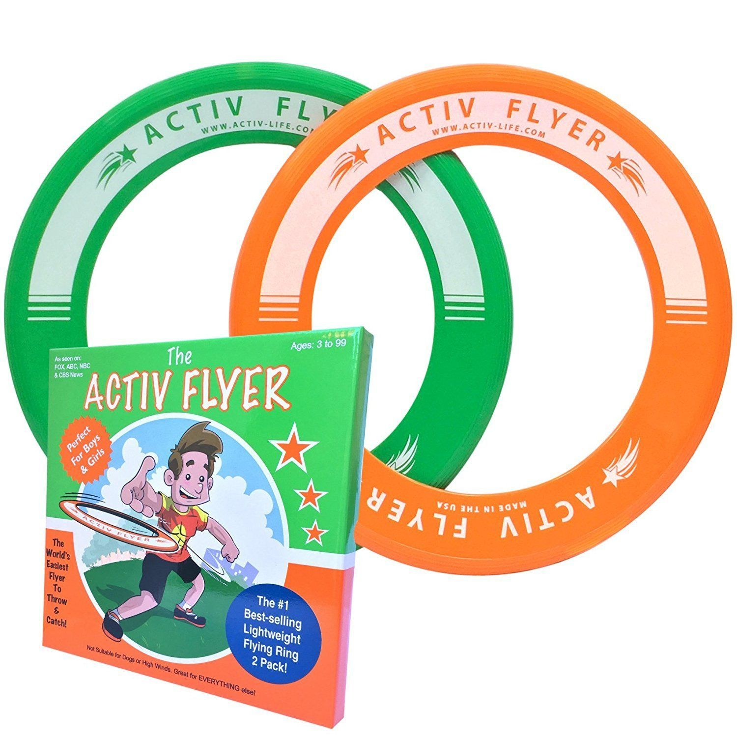 Best Kid s Frisbee Rings [2 PACK] Super Cool Toys for Boys