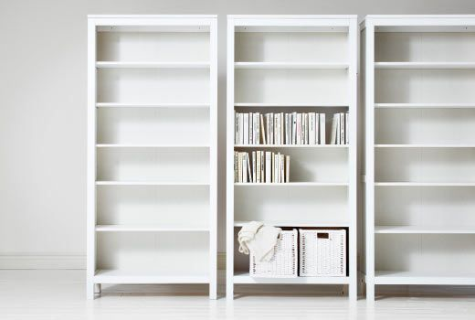 Large White Bookcase To Make Room Brighter And Appear Bigger