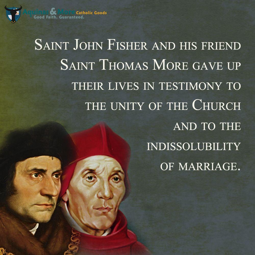 St Thomas More And St John Fisher Martyrs Against Tyranny Saint Quotes Catholic Catholic Quotes Saint Quotes