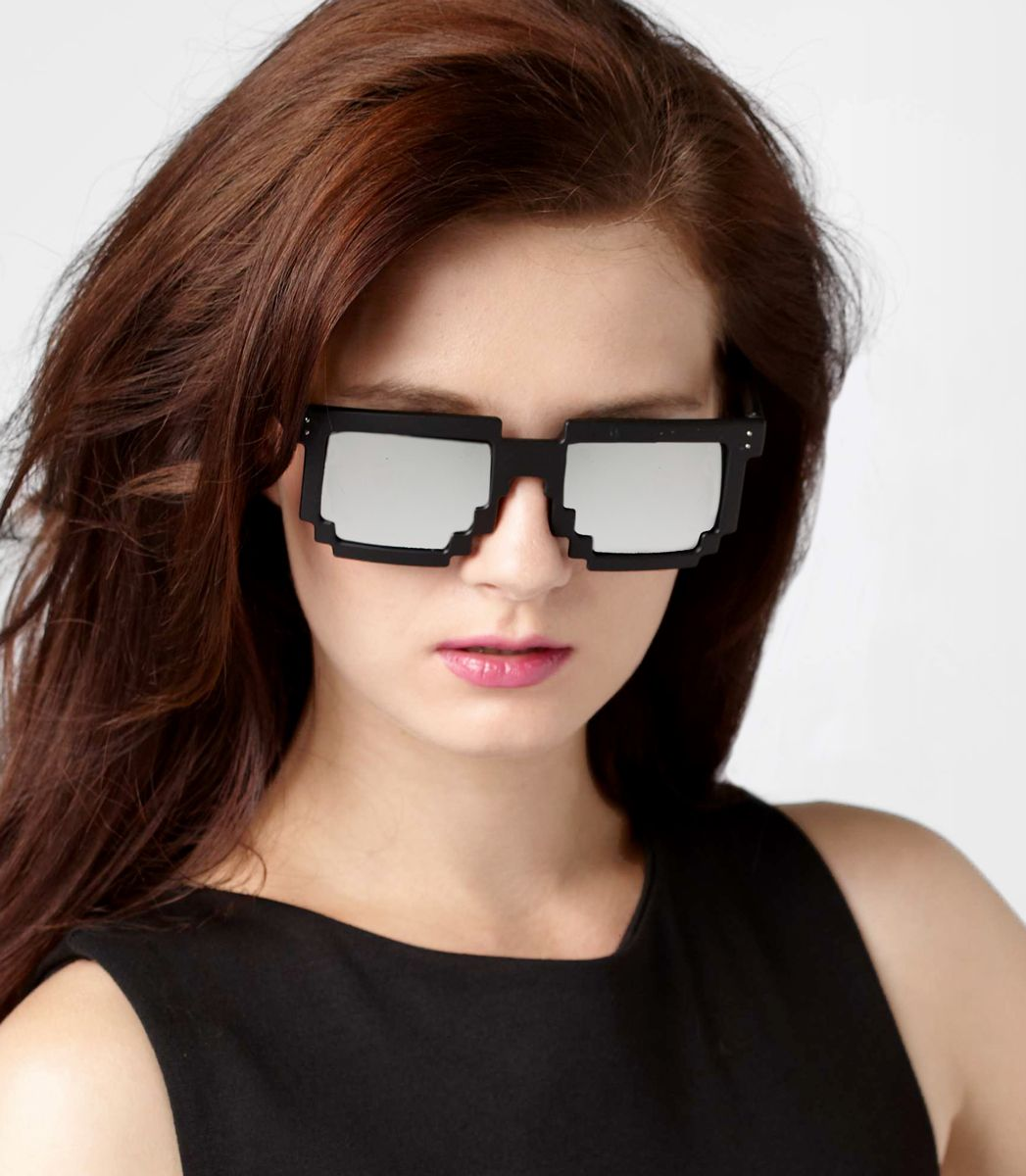 Pixel Frame Sunglasses. I NEED THESE. I need these right