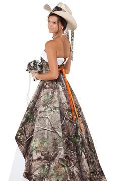 Camouflage wedding Dresses for Cheap | camo wedding dress Being ...