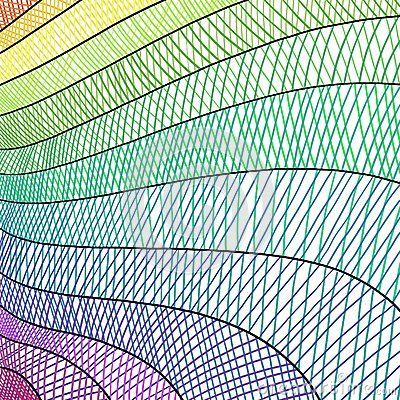 Modern Artsy Striped Hatchwork Background Sketch Hand Drawn Criss Cross Lines In Wave Pattern And Rainbow Colors O Art Background Background How To Draw Hands