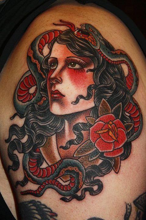 Pin By Derek On Body Art Tattoos Medusa Tattoo Monkey Tattoos