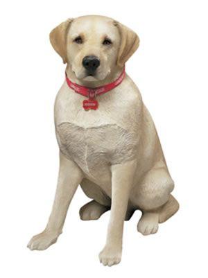 Life Size Labrador Retriever Dog Statue Yellow Labrador