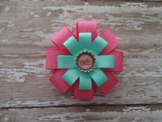 Hair Bow Hair Clip Pink Hair Bow Cutie Hair by marimaricollection, $5.00