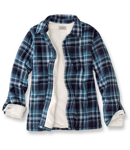 Fleece-lined Flapjack Flannel Shirt Jac stacks up on warmth. Darn few flannel shirt jacs