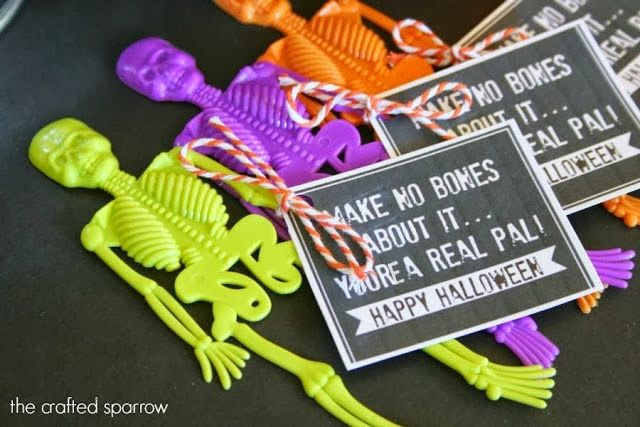 Skeleton Halloween Favors