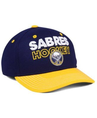 new arrival ce49a b7a52 adidas Buffalo Sabres Locker Room Structured Flex Cap - Navy Yellow L XL