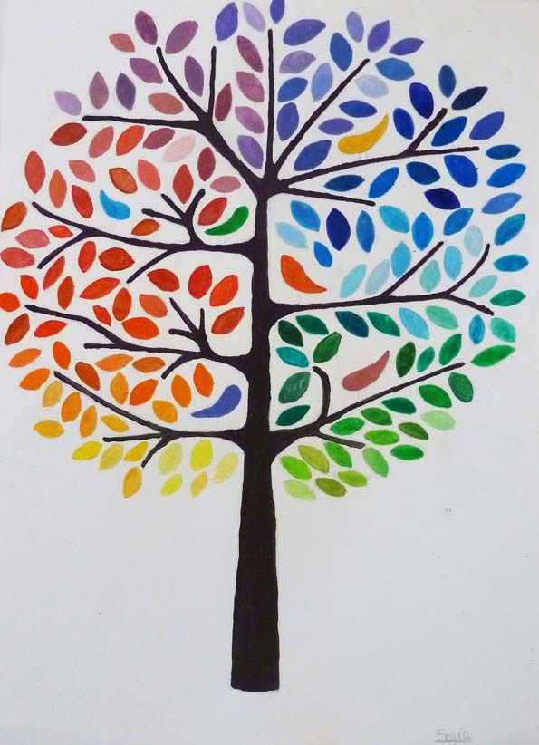 Arbol De Colores Paint Sample Art Collaborative Art Projects Paper Collage Art
